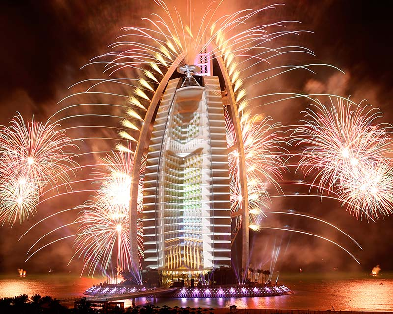 Ruggieri Pyrotechnie UAE National Day, Dubaï Burj Al Arab