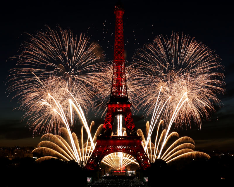 Ruggieri Pyrotechnie Paris National Day 2017 - Tour Eiffel